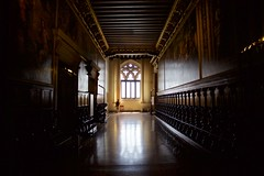 Getting Lost In the Doge's Palace (cookedphotos) Tags: canon 5dmarkii travel italy venice venezia dogespalace museum palace doge hallway window light shadow reflection explore lost
