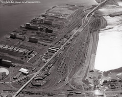 Rices Point at Duluth, Minnesota from the Air in 1966 (Twin Ports Rail History) Tags: twin ports rail history by jeff lemke time machine np northern pacific railway rices point duluth minnesota 1966