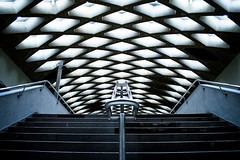 Jarry Station (s.W.s.) Tags: jarrystation metro subway montreal quebec canada nikon d3300 stairs rails pattern indoor urban station symmetry symmetric