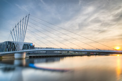 Salford Quays (Ian S Armstrong) Tags: uk manchester salford urban architecture longexposure hdr tonemap photomatix england