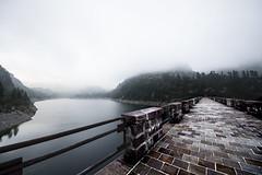 Misty lake (santiandre97) Tags: lake italy lago italia nikon nikond7200 landscape mountain weir water montagna paesaggio nikonitalia sigma grandangolo mist