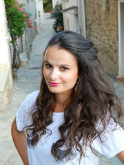 Oletta, Corse (maximebesson1) Tags: village street rue boucles curl long cheveux hair woman femme fille girl corsica corse