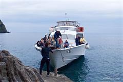 Boat Taxi, Cinque Terre, Italy (GSB Photography) Tags: italy passenger boat rivieradilevante gulfofgenoa riomaggiore mediterranean 5villages italianriviera coastalvillage coast ocean sea harbor unescoworldheritage water taxi nikon d60 cinque terre cinqueterre shoreline 100v10f 250v10f 500v20f