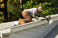 01 BEAR on the ROOF! (Violentz) Tags: male guy man roofer roof bear bearded hairy tattooed house home patricklentzphotography