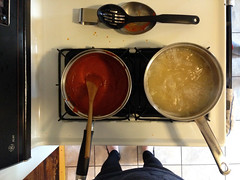 Cooked (ISAMLIU) Tags: pasta pastas noodle noodles sauce sauces redsauce redsauces cooking kitchen kitchens stove stoves