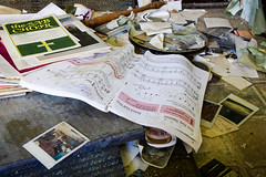 Annotated Sheet Music (ep_jhu) Tags: urbex books 7d yellowdog exploring worthington canon abandonado photos abandoned photographs book pennsylvania pa libros village choir sheetmusic unitedstates us