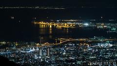 a night view from Mt. Rokko (3) Harbor Highway, Kobe Airport & Kansai International Airport (double-h) Tags: powershotg7x powershot g7x nightview kobe kobecity harborhighway kobeportisland portisland kobeairport kansaiinternationalairport mtrokko rokkosan tenrandai
