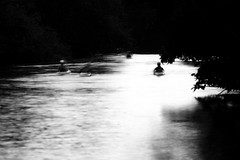Canoeists on the River Avon by moonlight (Ian Redding) Tags: british uk blur blurred boaters boats canoeists canoes dusk flow ghostly kayakers kayaks longexposure moon moonlight motion night peace reflection river riveravon sport tranquility water