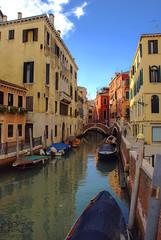 Colorful (vikikaneva) Tags: colorful beautiful love venice italy amazing canal gondolas water