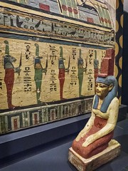 Guardian statue of Isis, sister of Osiris, mourning the deceased Meret-it-es Egyptian 30th Dynasty to early Ptolemaic Dynasty 380-250 BCE (mharrsch) Tags: coffin death burial funerary 30thdynasty ptolemaicdynasty lateperiod ptolemaicperiod religion myth isis goddess deity ancient nelsonatkins museum kansascity missouri mharrsch