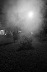 Rikkyo Chapel Camp 2016 (Sho Martin) Tags: rikkyo camp fire works work firework fireworks smoke smog mist bandw black white light night japan japanese enjoy people person friend friends shade shadow silhouette ricoh gr