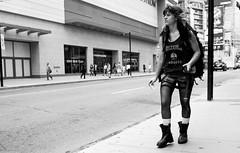 in the city (Bilihut) Tags: monochrome sonya7 canada toronto street streetlife city citylife girl