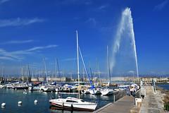 Jet d'eau de Genve (JBGenve) Tags: suisse switzerland genve geneva lac lake extrieur ciel sky eau water ville city jetdeau voilier