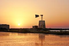 Windmill - Trapani .3 (nicol parasole) Tags: pentax k3 tamron70200f28 saltflats wind mill sunset travel trapani sicily landscape sky nicopara71 nphotography nicolparasole
