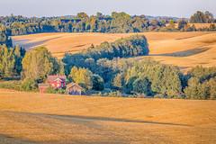 Harvested (kaifr) Tags: house trees farm harvest orange field akershus norway no