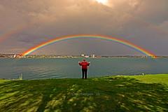 After the Rain........... (smiles7) Tags: rainbow saultstmarie camping stmarysriver me sonyrx10iii takenbydave 3662016