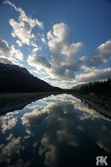 Spray Lakes Reflection (ryan.kole32) Tags: canmore canmorealberta alberta canada canadianrockies rockies rockymountains landscape nature beauty beautyinnature reflection mirrorimage bluesky clouds spraylakes lake water sony sonya77 peaceful calm serene serenity still trees forest mountains travel outdoors hiking