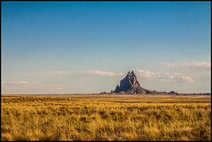 A castle of stone (Ingo Tews) Tags: usa united states america unitedstates vereinigtestaaten amerika nature natur wanderlust travel outdoor tranquility ruhe stille landschaft beautiful evening abend shiprock newmexico summer sommer surfinusa roadtrip rock stein rocks felsen light licht navajo monumental erde monadnock inselberg fourcornersregion fels mountain