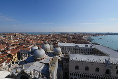 Venice East from Campanele (dougskik) Tags: italy venice campanile basilica san marco laguna castello