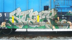 STAER (toxic waste dump) Tags: graffiti boxcar benching freightgraffiti