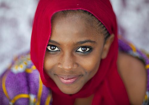 Portrait Of Beautiful  Teenage Girl  In Lamu, Kenya