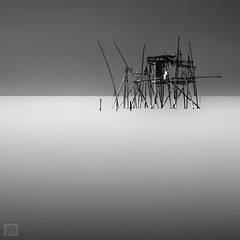 Terasing (Shahrulnizam KS) Tags: longexposure shadow sea white seascape black nature landscape nikon asia traditional fineart extreme tranquility bamboo malaysia slowshutter idle tranquil stakes separated nd400 nikond90 selatmelaka silverefexpro shahrulnizamks