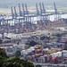 Il grande porto dei container del canale di Panama (vista dal Cerro Ancón)
