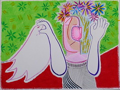 white bird (gtglanz/art) Tags: life flowers newmexico art love colors birds paper hope thought outsiderart faces outsider mixedmedia contemporaryart drawings compassion pastels dreams expressionism balance z watercolors imaginary vibrations acrylics visionary visionaryart artonpaper womensart healingart spontaneousart feministart sharingart gaylephotos gtglanzart gayleglanzcom gayleglanz