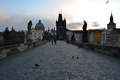 Early morning on the Charles Bridge