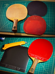 Lazy Sunday project: rebuild table tennis paddle I used as a kid in 1989. (Jimboi) Tags: pingpong tabletennis stiga