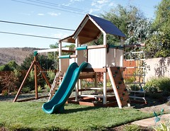 Backyard wPlayset-8614 (Swing Set Solutions) Tags: set play swings vinyl slide structure swing solutions playset polyvinyl
