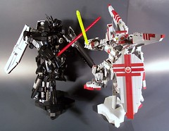 TIE Advanced Mobile Suit VS X-Wing Gundam (M<0><0>DSWIM) Tags: mobile lego luke tie suit darth xwing vader gundam skywalker advanced