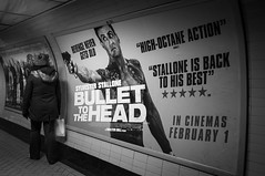 DSCF0023 (Christopher Maverick) Tags: uk london film movie underground subway poster sylvester head tube bullet stallone bullettothehead