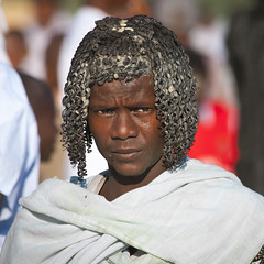Afar Tribe Man, Assaita, Afar Regional State, Ethiopia (Eric Lafforgue) Tags: africa portrait people haircut men face hair square photography day african muslim islam culture tribal grease butter tradition ethiopia tribe ethnic hairstyle adultsonly oneperson frontview traditionalculture hornofafrica ethnology headandshoulders afar eastafrica traditionalclothing realpeople colorimage lookingatcamera onlymen onemanonly traveldestination danakil 1people pastoralist africanculture aidelkebir nomadicpeople asaita assayta mg1398