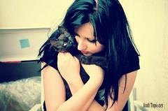 hug (Andi Topiczer) Tags: zorki old portrait love film girl fashion contrast cat vintage model hug grain romania portret andi 3c timisoara madalina szekely topiczer