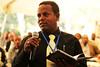Participant makes a comment at the LIVES inceiption workshop