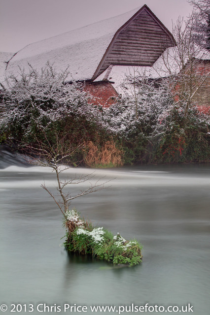 The Mill at Sherfield On Loddon after Snowfall