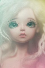 May (Frankie Nadine) Tags: blue face up ball doll may lips fairy bjd freckles custom jointed bluefairy repaint faceup