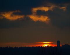 BREAK IN THE CLOUDS (Irene, W. Van. BC) Tags: sunset red darkness redsky sungoingdown sunnyclouds redhorizon sunovercity dreamlikephotos