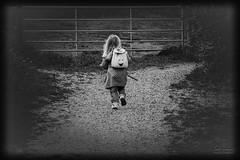 Dora The Explorer....... (Suggsy69) Tags: bw monochrome blackwhite fuji backpack doratheexplorer explored hs10 explored2213