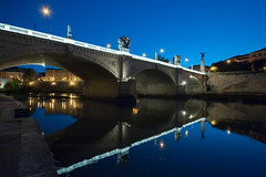 Stars on Tiber (Blende1.8) Tags: bridge blue rome nikon ponte ii hour tiber rom emanuele vittorio blaue stunde d700 brücle