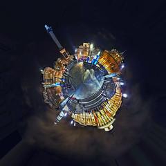 Trafalgar Square at Night - Polar Panorama (Anatoleya) Tags: city 3 london night canon square prime evening mark f14 iii trafalgar nelsons 5d column 24mm sq hdr f14l 5d3 anatoleya