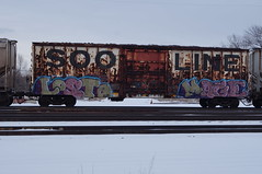 losto mage (benchomatic) Tags: minnesota train bench graffiti minneapolis trains freight freights rollingstock fr8 benching fr8s