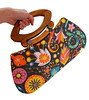 Year of the Snake handbag (Jennifer Ladd handmade) Tags: orange flower cute floral bag colorful snake sewing gray chinese craft chinesenewyear newyear fabric purse cloth handbag yearofthesnake 2013 jenniferladd
