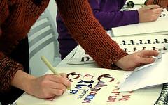 IMG_2408 (xelo garrigs) Tags: workshop taller letter calligraphy blackletter caligrafa gtica adcv calligrafia gtica