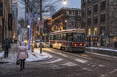 Snow on King (Ben Roffelsen) Tags: street snow toronto king rail slush streetcar brant blogto torontoist