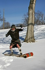 Kilties do it standing up (kilt4142) Tags: snow man male men sports kilt scottish scot kilts scots tartan toboggan kilted scotsman upkilt