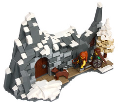 A Door in a Mountain? (3.1) (Simon S.) Tags: lego bricks vikings moutains wikinger mitgardia