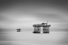 Sizewell Platforms (Mute*) Tags: longexposure sea england bw seascape station suffolk power offshore motionblur northsea daytime platforms sizewell pumping ndfilter canonef85mmf18usm nd110 bwfilter110