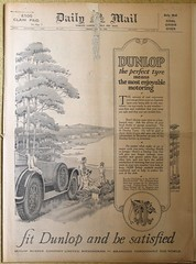 DAILY MAIL (old school paul) Tags: vintage newspaper cover frontpage 1925 dailymail